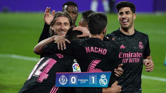 Madrid giành chiến thắng tuyệt đối trong màn đối đầu Real Madrid vs Valladolid
