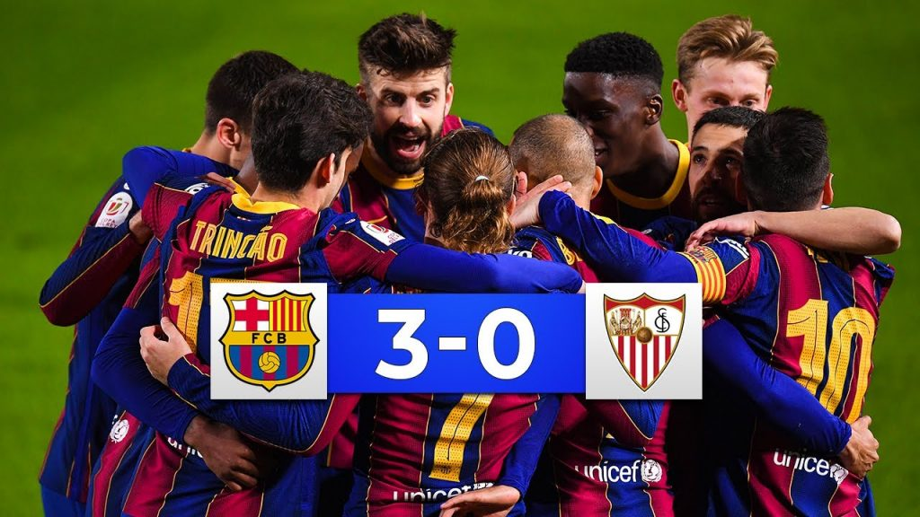Barca vs Sevilla tỷ số 3-0