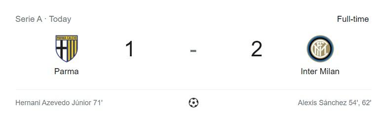 Parma VS Inter 1-2
