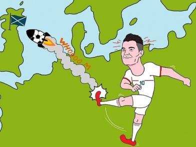 Ảnh chế sút bay giải Euro về Ý