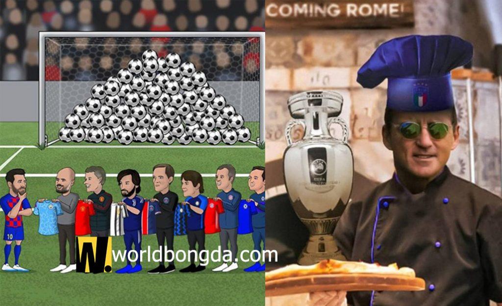 ảnh chế siêu hài hước về chung kết euro 2020